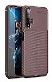 Eiroo Rugged Carbon Honor 20 Kahverengi Silikon Kılıf