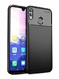 Eiroo Rugged Carbon Honor 8X Siyah Silikon Kılıf