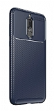 Eiroo Rugged Carbon Huawei Mate 10 Lite Lacivert Silikon Kılıf