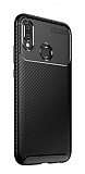 Eiroo Rugged Carbon Huawei P20 Lite Siyah Silikon Kılıf