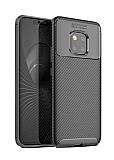 Eiroo Rugged Carbon Huawei Mate 20 Pro Siyah Silikon Kılıf