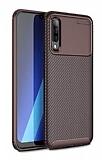 Eiroo Rugged Carbon Huawei P Smart S Kahverengi Silikon Kılıf