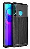 Eiroo Rugged Carbon Huawei P30 Lite Siyah Silikon Kılıf