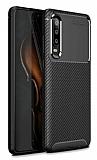 Eiroo Rugged Carbon Huawei P30 Siyah Silikon Kılıf