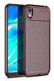 Eiroo Rugged Carbon Huawei Y5 2019 Kahverengi Silikon Kılıf