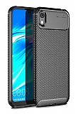 Eiroo Rugged Carbon Huawei Y5 2019 Siyah Silikon Kılıf