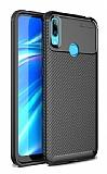 Eiroo Rugged Carbon Huawei Y7 Prime 2019 Siyah Silikon Kılıf