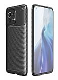 Eiroo Rugged Carbon Xiaomi Mi 11 Siyah Silikon Kılıf