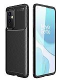 Eiroo Rugged Carbon OnePlus 9 Siyah Silikon Kılıf