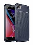 Eiroo Rugged Carbon iPhone 7 / 8 Lacivert Silikon Kılıf