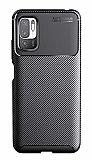 Eiroo Rugged Carbon Xiaomi Poco M3 Pro Siyah Silikon Kılıf