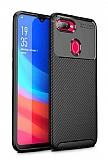 Eiroo Rugged Carbon Oppo R15X Siyah Silikon Kılıf