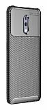 Eiroo Rugged Carbon Oppo Reno Siyah Silikon Kılıf