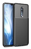 Eiroo Rugged Carbon Oppo Reno Z Siyah Silikon Kılıf