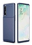 Eiroo Rugged Carbon Oppo Reno3 Pro Lacivert Silikon Kılıf