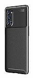 Eiroo Rugged Carbon Oppo Reno4 Pro Siyah Silikon Kılıf