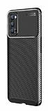 Eiroo Rugged Carbon Oppo Reno4 Siyah Silikon Kılıf