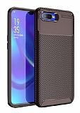 Eiroo Rugged Carbon Oppo RX17 Neo Kahverengi Silikon Kılıf