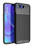 Eiroo Rugged Carbon Oppo RX17 Neo Siyah Silikon Kılıf