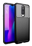 Eiroo Rugged Carbon Oppo RX17 Pro Siyah Silikon Kılıf
