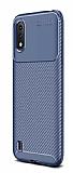 Eiroo Rugged Carbon Samsung Galaxy A01 Lacivert Silikon Kılıf