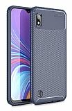 Eiroo Rugged Carbon Samsung Galaxy A10 Lacivert Silikon Kılıf
