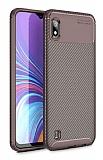 Eiroo Rugged Carbon Samsung Galaxy A10 Kahverengi Silikon Kılıf