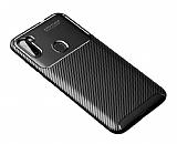 Eiroo Rugged Carbon Samsung Galaxy A11 Siyah Silikon Kılıf