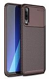 Eiroo Rugged Carbon Samsung Galaxy A30S Kahverengi Silikon Kılıf