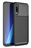 Eiroo Rugged Carbon Samsung Galaxy A30S Siyah Silikon Kılıf
