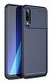 Eiroo Rugged Carbon Samsung Galaxy A30S Lacivert Silikon Kılıf