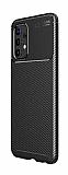 Eiroo Rugged Carbon Samsung Galaxy A32 4G Siyah Silikon Kılıf