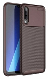 Eiroo Rugged Carbon Samsung Galaxy A50 Kahverengi Silikon Kılıf