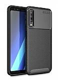 Eiroo Rugged Carbon Samsung Galaxy A7 2018 Siyah Silikon Kılıf