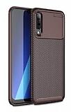 Eiroo Rugged Carbon Samsung Galaxy A70 Kahverengi Silikon Kılıf