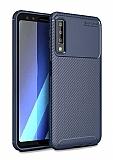 Eiroo Rugged Carbon Samsung Galaxy A9 2018 Lacivert Silikon Kılıf