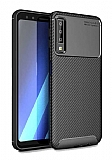 Eiroo Rugged Carbon Samsung Galaxy A9 2018 Siyah Silikon Kılıf