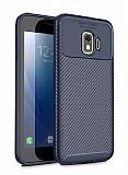 Eiroo Rugged Carbon Samsung Galaxy J2 Core Lacivert Silikon Kılıf