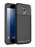 Eiroo Rugged Carbon Samsung Galaxy J2 Core Siyah Silikon Kılıf