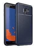 Eiroo Rugged Carbon Samsung Galaxy J4 Plus Lacivert Silikon Kılıf