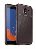 Eiroo Rugged Carbon Samsung Galaxy J4 Kahverengi Silikon Kılıf