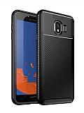 Eiroo Rugged Carbon Samsung Galaxy J4 Siyah Silikon Kılıf