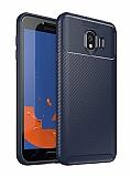 Eiroo Rugged Carbon Samsung Galaxy J4 Lacivert Silikon Kılıf