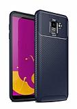 Eiroo Rugged Carbon Samsung Galaxy J6 Lacivert Silikon Kılıf