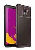 Eiroo Rugged Carbon Samsung Galaxy J6 Kahverengi Silikon Kılıf