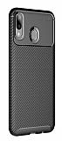 Eiroo Rugged Carbon Samsung Galaxy M20 Siyah Silikon Kılıf