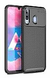 Eiroo Rugged Carbon Samsung Galaxy M30 Siyah Silikon Kılıf