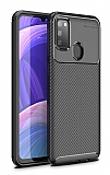 Eiroo Rugged Carbon Samsung Galaxy M30S Siyah Silikon Kılıf