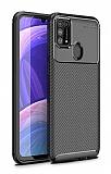 Eiroo Rugged Carbon Samsung Galaxy M31 Siyah Silikon Kılıf