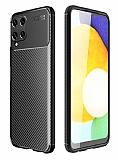 Eiroo Rugged Carbon Samsung Galaxy M32 Siyah Silikon Kılıf